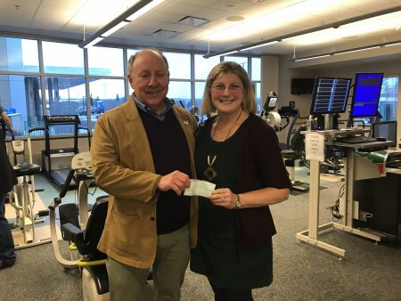 Mended Hearts Donation Gordon Glaser and Mary Vogel